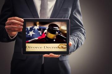 Divorce Advice Concept On A Tablet