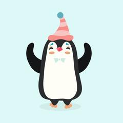 Vector illustration of a penguin.