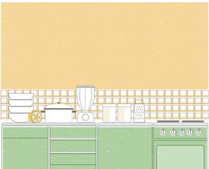 Kitchen interior background