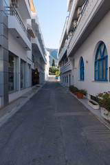 Narrow Greek streets