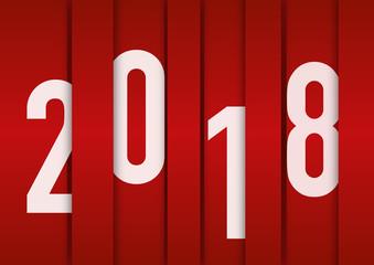 2018 - carte de vœux - vœux - année - design -entreprise - présentation - rouge