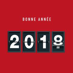 2018 - carte de vœux - vœux - entreprise - année - sobre - classique - chic, carré - bonne année