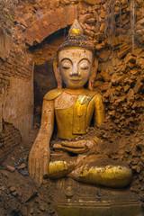 Myanmar Inle Lake Shwe Inn Dain Pagoda complex Indein village