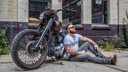 Motorrad - Mann - Biker