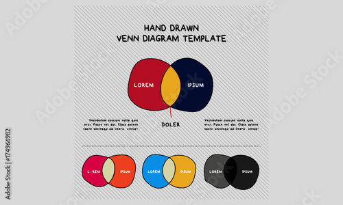 Hand Drawn Venn Diagram Template Stock Image And Royalty Free