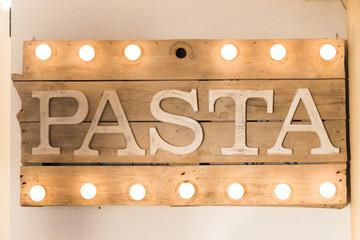 Rustic wooden pasta board
