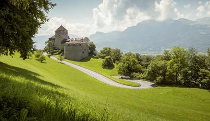 Fotorolgordijn Kasteel Royal castle in Vaduz, Liechtenstein