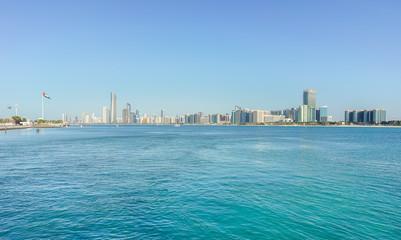 Stadtansicht von Abu Dhabi, Vereinigte Arabische Emirate