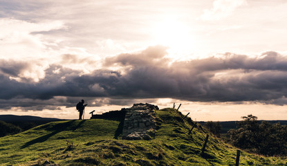 Walker by Hadrian's Wall
