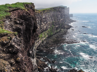 cliffs in Iceland with rugged coastline