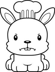 Cartoon Angry Chef Bunny