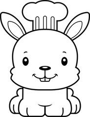 Cartoon Smiling Chef Bunny