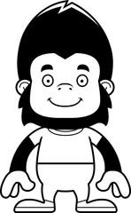 Cartoon Smiling Gorilla