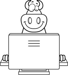 Cartoon Devil Computer