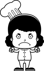 Cartoon Angry Chef Girl