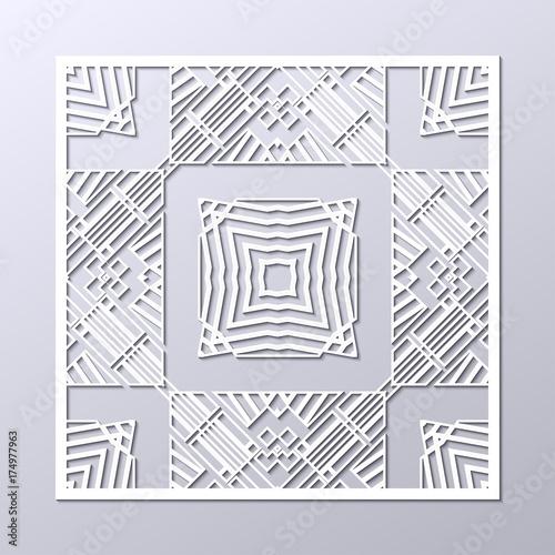 white art deco ornamental background template for design vector