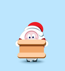 Lovely Santa Claus. Christmas symbol. Stylized character. New Ye