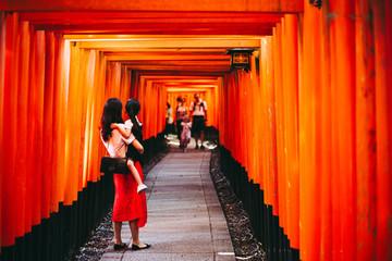 Autocollant pour porte Kyoto 京都 伏見稲荷大社 日本