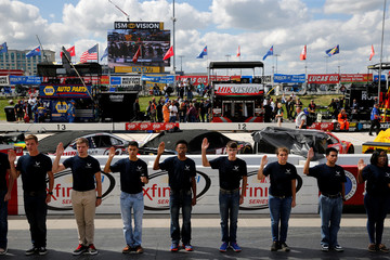 NASCAR holds the Monster Energy Series Apache Warrior 400 car race at Dover International Speedway in Dover, Delaware