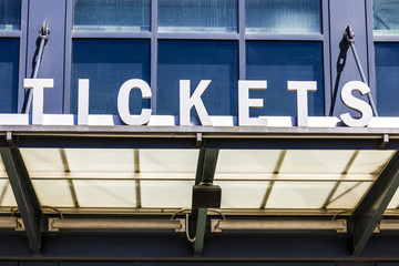 Stadium Ticket Window Sign I