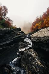 mountain river autumn