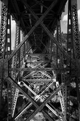Underside of the bridge in Arizona in Black and White