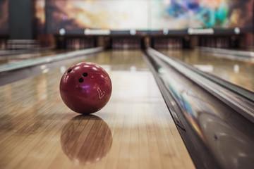 Modern bowling room