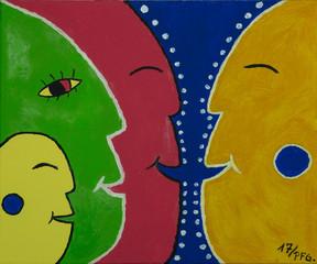 Gemälde, abstrakt, Kunst, bild