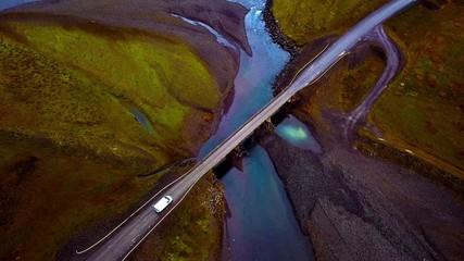 Fototapete - Überquerung einer Brücke