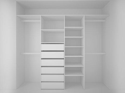 built-in wardrobe 3D render