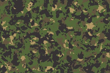 Seamless green camouflage background or texture.