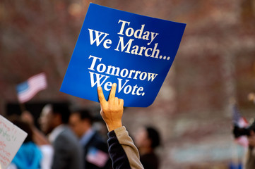 Today We March, Tomorrow We Vote