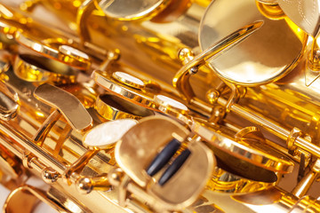 saxophone fragment. jazz music.