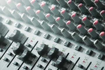 sound mixer. recording studio.