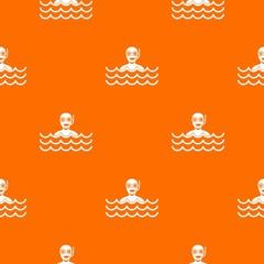 Man with scuba pattern seamless