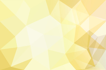 Abstract background of polygons on yellow background.
