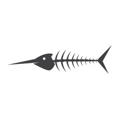 fish bone vector illustration