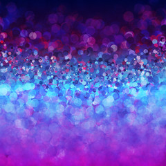 Glitter vintage lights background. Blue, purple and pink colors. vector illustration