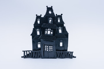 Halloween haunted house with white space