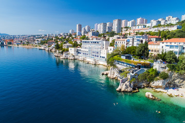 Sablicevo- The City Beach in Rijeka, Croatia