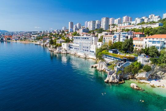 Sablicevo- The City Beach in Rijeka, Croatia