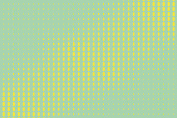Halftone background. Pop art, comic style. Pattern with lines. Green, mint, yellow color. Vector illustration