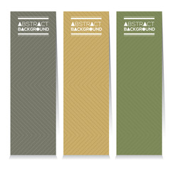 Set Of Three Simple And Clean Graphic Pattern Vertical Banners Vector Illustration