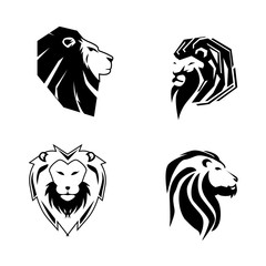 lion logo and icon