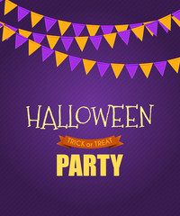 Halloween Party Background Template. Vector illustration