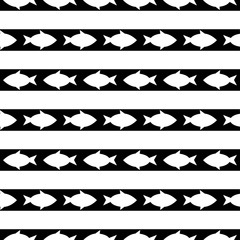 seamless pattern with fish. vector