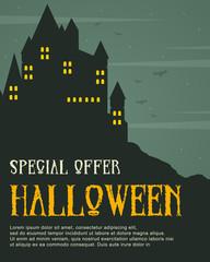 Halloween celebration design style poster