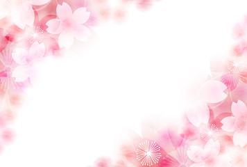 桜 年賀状 花 背景