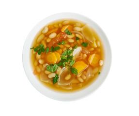 Fassolatha -  national dish of Greece,Classic White Bean Soup.