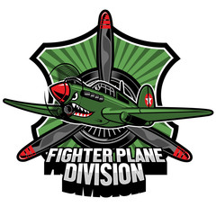 fighter plane division badge